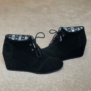 Size 12 Toms Wedge Booties - Lightly Worn